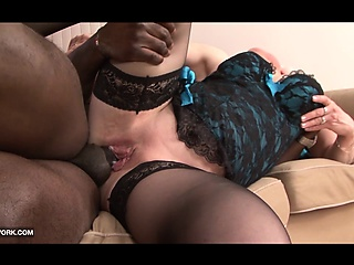 Grandma wants to fuck black guy in hard interracial