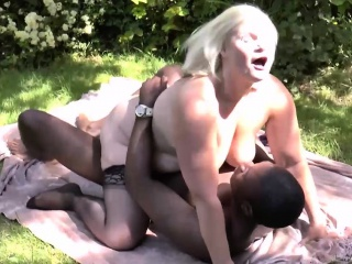 Granny Lacey hard blacked in her garden