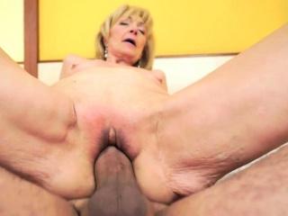Jizz soaked granny banged