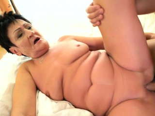 Masturbating old granny