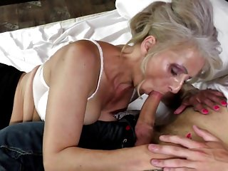 Hot mature mother fucked by young not her son