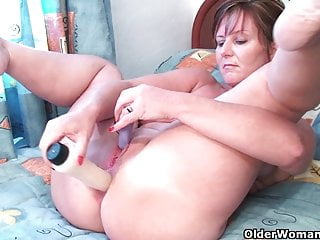 Classy grandma Joy gets fingered deep