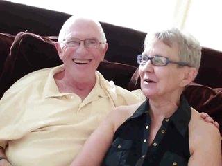 Elderly husband fucked with college girl man