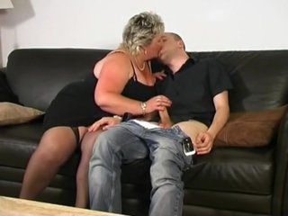 Blonde bbw pleases junior