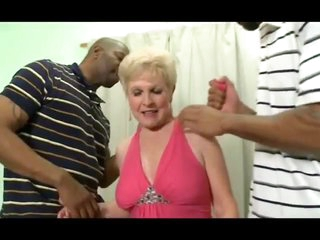 Naughty granny fucked by two BBCs