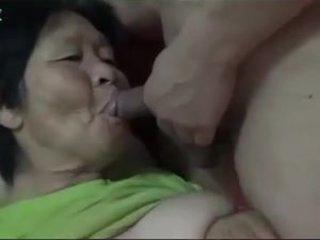 70+ Asian Granny enjoy