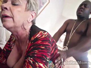 Breasty Granny in Creampie Clip