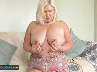 Busty granny Lacey has wet cunt by EuropeMature