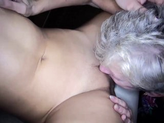 OldNanny mature lesbian and toy