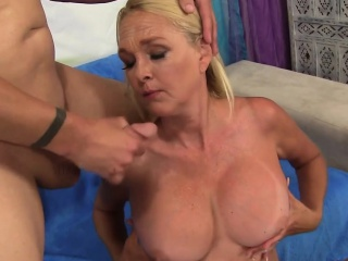 Granny Measures a Guys Dick and Fucks Him