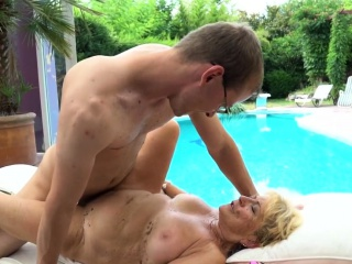 Pot belly grandma fucked