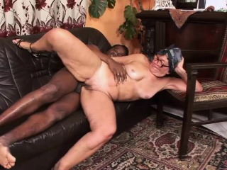 Black guy fucks a naughty granny