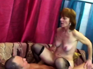 Horny granny Ivette is hot and ready