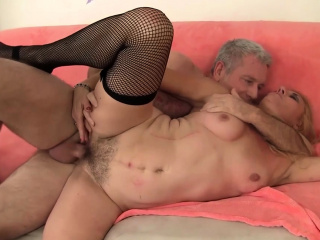 Mature Blonde Cristine Ruby Takes a Hardcore Pounding