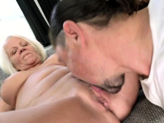 Old Blonde Fucked