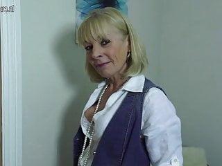 Skinny grandma needs a hard cock