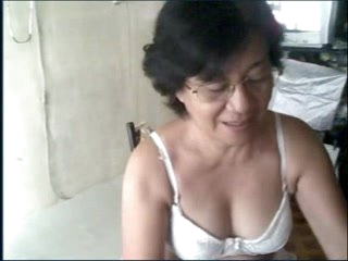 Granny oriental on webcam