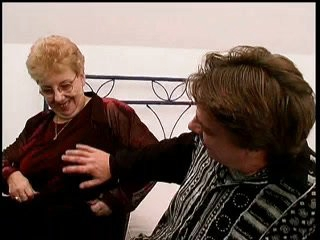 Ugly granny in stockings gets slammed properly