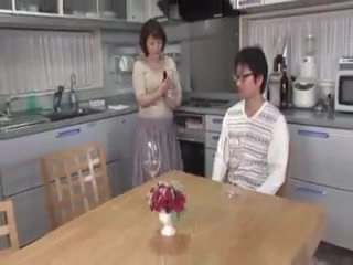 Japanese Old Woman Getting Blackmailed Into Kinky Sex