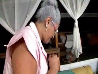 Old Lady loves Big Black Cock