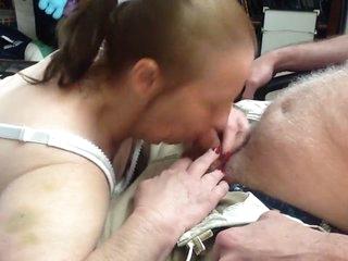 Redhead granny bj cum swallow