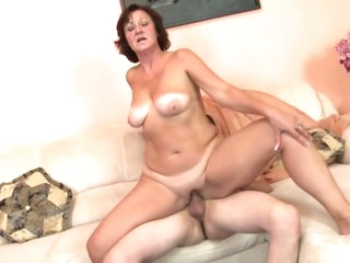 Real granny fucks the hell out of young boy