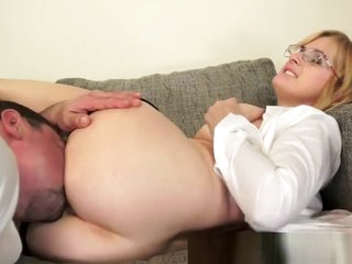 Spex grandmother anally fucked