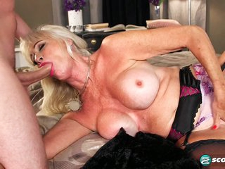 Leah's first video fuck is with a young stud - 60PlusMilfs