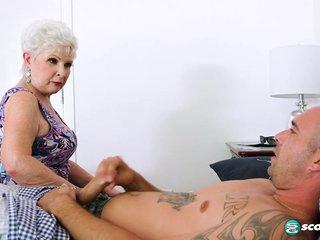 Jewel is a granny. Jimmy is her grandson's friend - 60PlusMilfs