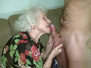 Grandma porn star Norma fucking her boy toy.