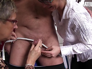 AMATEUREURO - Two Mature Taylors Gives an Extra Service To a Customer