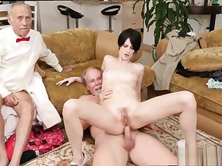 Madison scott old and big old granny and old man licks young girl and