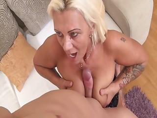Granny assfucked by her stepson