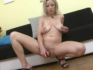 Sexy MOM Brenda with saggy tits and hungry cunt