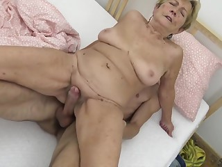 Young guy fucks granny