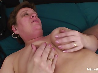 Chubby Granny Gets A Cock In Her Ass - Mature'NDirty