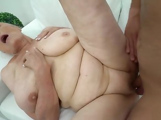 Granny Loves Hard Cock in Her Mature Pussy