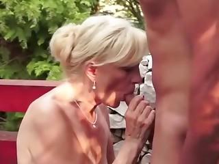 Nice cum eating granny