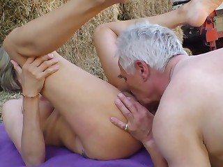 Amateur Outdoor German Grannies