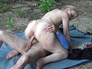 Grandma fucked by horny stepson