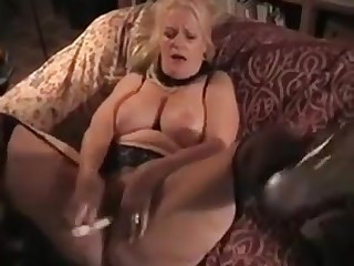 Big titted blonde gets fucked by an old man