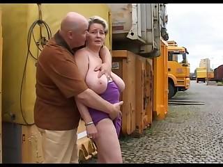 Mature Wife Show Her Voluptus Body Outdoor.