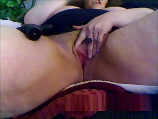 Granny masturbation with sex toy on webcam