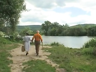 Old pervs Sex Picnic with Teeny