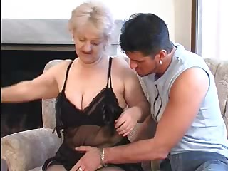 Hawt Golden-Haired Granny Blows Youthful Thick Shlong
