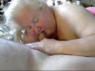 Nice blow job from BBW granny 2