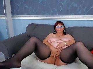 BBW granny on webcam