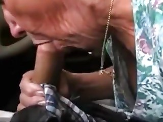 Damn sexy granny make blowjob
