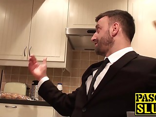 Busty Laura Louise takes a big fat cock deep inside her cunt
