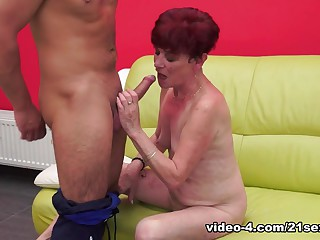 Horny pornstar in Amazing Grannies, Redhead sex movie